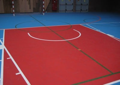 Polideportivo Larrea Amorebieta – Acrílico – Marcación horizontal